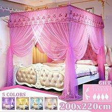 Rideau de lit en canopée princesse de luxe, 4
