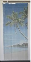Rideau de porte 90x200cm Sticks bambou - Lagoon