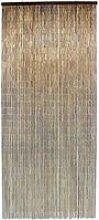 Rideau de porte Acajou bâtonnets bambou vernis -