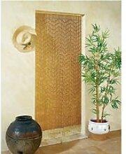 Rideau de porte Bambou Garrigue Morel 90 x 200cm