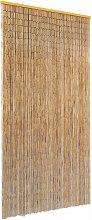 Rideau de Porte contre Insectes Bambou 90x220 cm