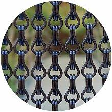 Rideau de porte en aluminium Alusa noir 100 x 230