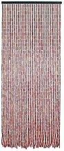 Rideau de porte en bambou et perles de bois -