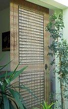 Rideau de porte en bambou Motif porte de véranda