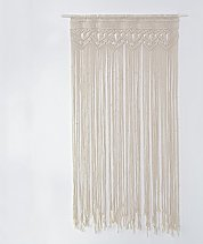 Rideau de porte en fil de coton macramé artisanal