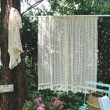 Rideau de porte en fil de coton, rideau de
