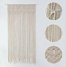 Rideau de porte en fil de coton tricoté,