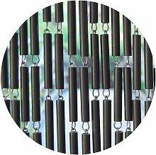 Rideau de porte en polyéthylène anthracite et