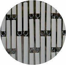 Rideau de porte en polyéthylène beige et acier