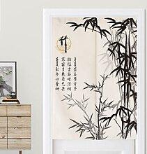 Rideau de porte Feng Shui en bambou à encre