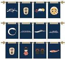 Rideau de porte japonais, demi-rideau Feng Shui