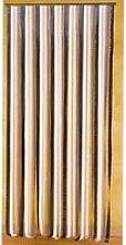Rideau de porte lanières plastique marron/beige