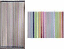 Rideau de porte moustiquaire moustirayures - 160 x