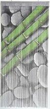 Rideau de porte perle bambou 90x200 cm motif galet