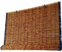 Rideau de roseau, store bambou, bordure rétro,
