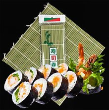 Rideau de Sushi en bambou, rouleau à Sushi