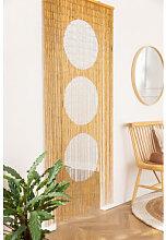 Rideau en bambou Cirkel Blanc Sklum