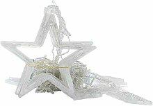 Rideau en étoile à cinq branches lumière jaune