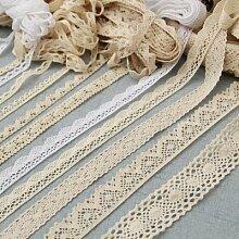Rideau en fil de coton pur Beige pour vêtements,