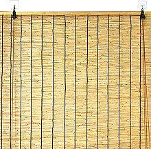 Rideau en roseau naturel, rideau en bambou avec