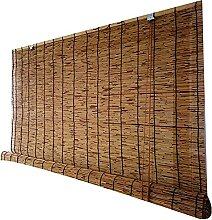 Rideau en roseau naturel, volet roulant en bambou