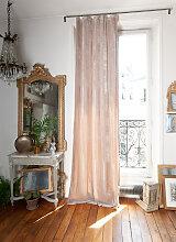 Rideau en velours de soie doublé 110x300 cm beige
