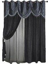 Rideau et voilage cantonnière perlé - L 280cm x