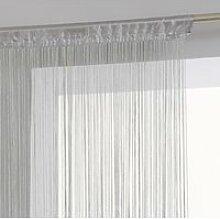 Rideau fil - 90 x 200 cm - Gris