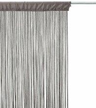 Rideau fil gris 90x200cm