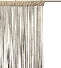 Rideau fil prêt à poser 90 x 200 cm coloris LIN