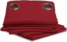 Rideau Isolant Thermique Hiver couleur Rouge 145 X