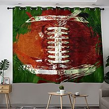 Rideau isolant thermique motif football abstrait