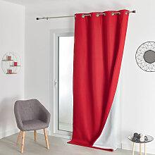 Rideau Isolant Thermique Rouge 140 x 260 cm - Rouge