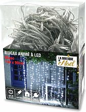 Rideau lumineux électrique à LED blanc 140 x 90