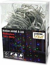 Rideau lumineux électrique à LED multicolore 140