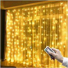 Rideau lumineux LED 3 m x 3 m, 300 LED, USB,