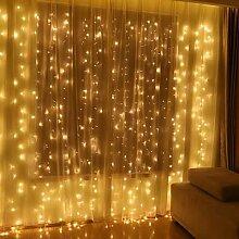 Rideau lumineux LED avec télécommande, guirlande