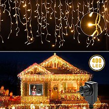 Rideau lumineux LED - Blanc chaud - Guirlande