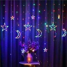 rideau lumineux lune et étoile LED, guirlande