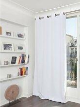 Rideau occultant blanc 140 x 300