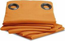 Rideau occultant uni Orange en 140 x 300 (LxH),