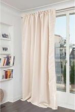 Rideau phonique thermique occultant beige 140x260