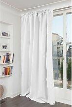 Rideau phonique thermique occultant blanc 140x300