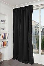 Rideau phonique thermique occultant noir 140x260