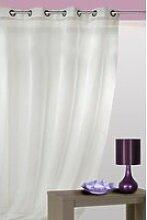 Rideau prêt à poser en polyester et lin coloris
