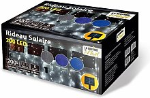 Rideau solaire lumineux à LED animé 5 fonctions