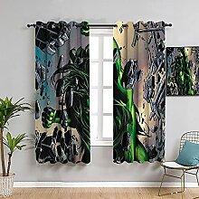 Rideaux de chambre de style simple avec motif Hulk
