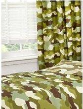 Rideaux doublés camouflage armée
