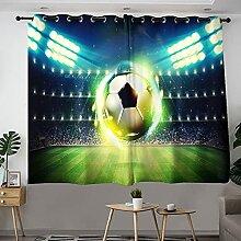 Rideaux filtrant la lumière du stade de football