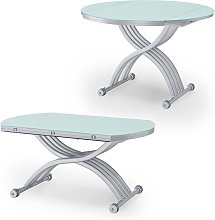 RIMA - Table basse relevable extensible ronde